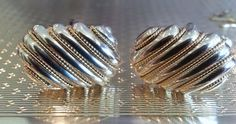 Tiffany & Co. Cuff Links ~ Solid 18 k Gold ~ Solid Sterling Silver ~ Free Shipping