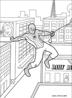 Spider Man Coloring Pages Printable Spiderman Mask Page Free