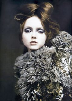 "Alana Zimmer, Lily Cole and Suvi Koponen in ""Atelier Couture"" by Paolo Roversi for Vogue Italia March 2007"