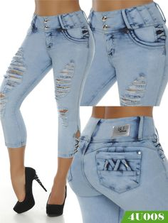 Colombian buttlifting jeans available at www.asamoda.com. Wholesale and retail, special prices for Wholesale buyers Capri Outfits, Hot Outfits, Classy Outfits, Fashion Outfits, Dope Fashion, Denim Fashion, Star Fashion, Womens Fashion, Skinny Jeans Style