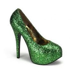 Shoes For You 5 3 4 Inch Heel Sexy High Heel Shoes Green Glitter Pump Shoes Concealed Platform St Patricks Day 68 99 3478 Sexy High Heels, High Heel Pumps, Pump Shoes, Stiletto Heels, Shoes Heels, Platform Pumps, Prom Heels, Court Shoes, Fab Shoes