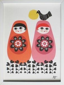 Matryoshka Russian Nesting Doll Wall Art