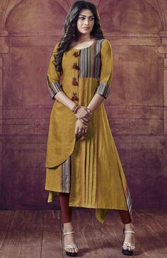 Beautiful cotton kurti with superb detailing.