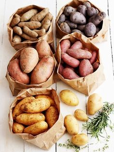 Growing potatoes may seem like a job for the professionals, but believe it or not, anyone can do it. See how to grow potatoes of your own Vegetables Photography, Fruit Photography, Potato Photography, Fruit And Veg, Fruits And Vegetables, Roasted Vegetables, Food Styling, Food And Drink, Healthy Eating