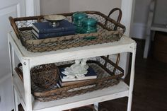 chicken wire trays   chicken wire baskets from william sonoma they were the prefect size ...
