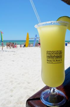 Ice Cold Margarita from the beachfront Tiki Bar at the Sandpiper Beacon Beach Resort in Panama City Beach, Florida.