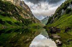 Photo Fählensee in the Appenzell by Anita on Places To See, Places Ive Been, Switzerland Destinations, Wanderlust, Places Of Interest, Bergen, Sailing, Waterfall, Beautiful Pictures