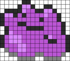 Ditto Perler Bead Pattern / Bead Sprite