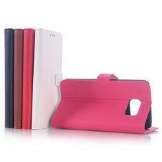[US$4.89] Litchi Grain PU Leather Stand Case Cover For Samsung Galaxy S6 Edge  #case #cover #edge #galaxy #grain #leather #litchi #samsung #stand