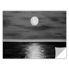 ArtApeelz 'Moon Rising' by Jim Morana Painting Print Removable Wall Decal