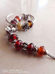 Amber Stone, Pandora Charms, Garnet, Charmed, Beads, Bracelets, Jewelry, Granada, Beading