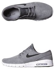 NIKE STEFAN JANOSKI MAX L WOMENS SHOE - GREY BLACK WHITE on http://www.surfstitch.com