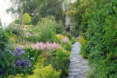 Gardens in bloom at Hill Top house, home of Beatrix Potter