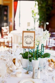 White Orchid Wedding Centerpieces