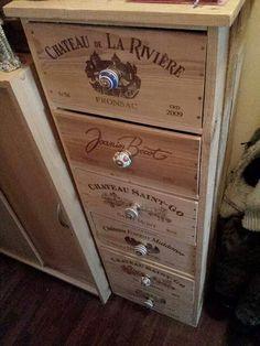 A faire avec mes caisses a vin