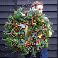 """375 Likes, 4 Comments - Philippa Craddock (@philippacraddock) on Instagram: """"Dress your door with one of our spectacular Christmas wreaths! Click on the link in our bio to shop…"""""""