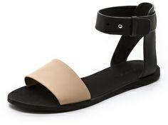 Vince Sawyer Flat Sandals on shopstyle.com