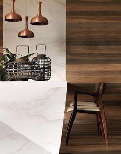O Bianco Covelano é uma peça versátil que permite ser utilizada em reformas rápidas ou sobreposição de revestimentos existentes. Seus desenhos expressivos e tons intensos ficam em maior evidência quando aplicados ao lado do Jardim Botanico.  #JardimBotanico #BiancoCovelano #Portobello #Mármore #Madeira #Decor #Arquitetura