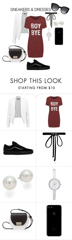 """""""sneakers and dress"""" by shayshayv ❤ liked on Polyvore featuring Alice + Olivia, WearAll, Vans, Joomi Lim, AK Anne Klein, DKNY, Joanna Maxham and Gucci"""