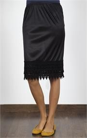 Fancy Pencil Skirt Extender Slip...need to make this!