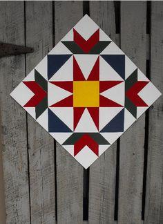 Barn Quilt, Summer Star Pattern. $65.00, via Etsy.