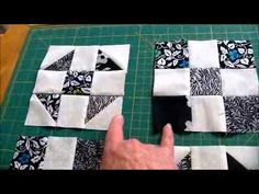 How to quilt - tic tac toe quilt pattern video