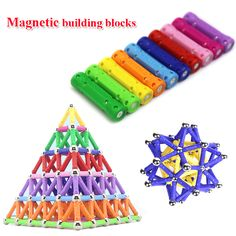 60pcs/set New Hot sale Child intelligence toy educational toys magnetic stick favorite gift-in Blocks from Toys & Hobbies on Aliexpress.com | Alibaba Group