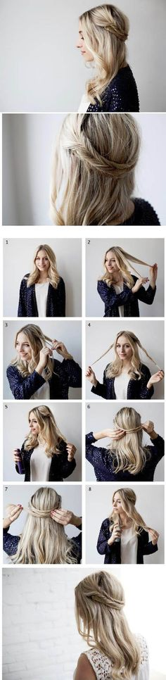 half-up braids