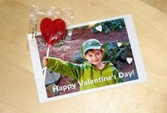 Lollipop photo Valentine--big hit with the girls' classes.  Directions tell which font to use in Picasa.