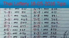 Thai Lottery 18 05 2016 Tips