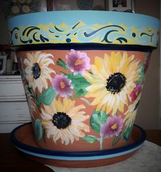 "18"" Clay Flower Pot"