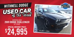 This 2009 Dodge Challenger is our Car of the Week! View more details on our website!