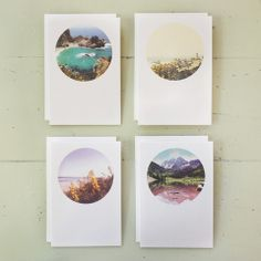 Scenic Circles Cards, S/8 stationary
