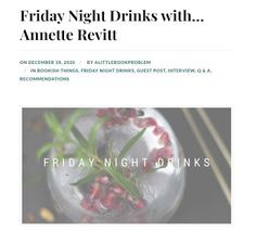 2nd Hand Books, Julie Morris, Book Review Blogs, Little Books, Blogger Themes, Book Lovers, Friday, Night, Drinks
