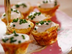 Ham and Leek Mini Quiches recipe from Ree Drummond via Food Network