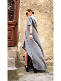Grey High Low Dress A03305 #Aakasha #grey #highlow #party #shortsleeves #gorgeous #maxidress #party #elegant #stylish