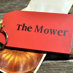 Order Wooden Key Ring:  The Mower