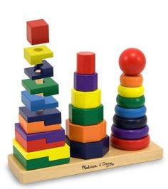 Amazon.com: Melissa & Doug Geometric Stacker: Toys & Games