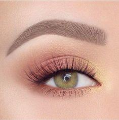 Eye Makeup Brushes Brown Smokey Eye Natural Makeup - Make Up Makeup Eye Looks, Eye Makeup Art, Natural Eye Makeup, Smokey Eye Makeup, Skin Makeup, Eyeshadow Makeup, Yellow Eyeshadow, Eyeshadow Palette, Neutral Eyeshadow
