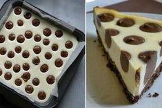 Roztomilý tečkovaný cheesecake s čokoládou – Napadov. Cheesecakes, Soul Food, Cake Recipes, Waffles, Deserts, Food And Drink, Pie, Sweets, Baking