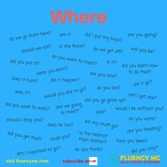 Phrases / Questions - Where ...? Make your own sentence! Practice!