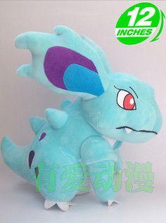 """Pokemon plush KROOKODILE 30cm //12/"""" High Qality NEW  Factory Made WARUVIAL Plush"""