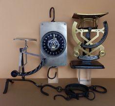 Online veilinghuis Catawiki: antieke veerunster, grote veerunster, bilaterale weegschaal en brievenweegschaal