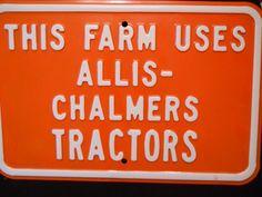 orange alis chalmer farm tractor   Allis Chalmers Tractor Farm Sign Orange by PiscesSpirit on Etsy