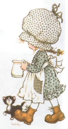 Holly Hobbie by Sarah Kay Sarah Key, Artists For Kids, Art For Kids, Sarah Kay Imagenes, Art Painting Gallery, Decoupage Vintage, Decoupage Drawers, Hobbies To Try, Adult Coloring Book Pages