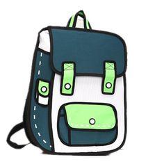 Amazon.co.jp: (ダウディフ) dawdyfu 大容量 アニメから飛び出したような リュックサック バックパック 面白い 二次元 イラスト 男女兼用 (グリーン): シューズ&バッグ:通販