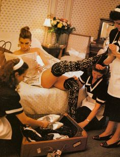Carré Otis photographed Michael Roberts, Vogue Italia September 1991