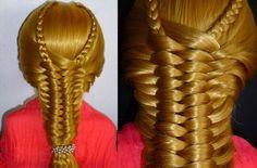 Лёгкая коса.Причёска для средних/длинных волос.Причёски в школу/на кажды...