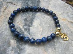 Lapis Lazuli Mala Bracelet prayer beads rosary with by LotusJewels