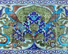William De Morgan tile panel by robmcrorie, via Flickr